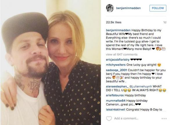 Benji-Madden-posts-gushing-birthday-message-to-wife-Cameron-Diaz